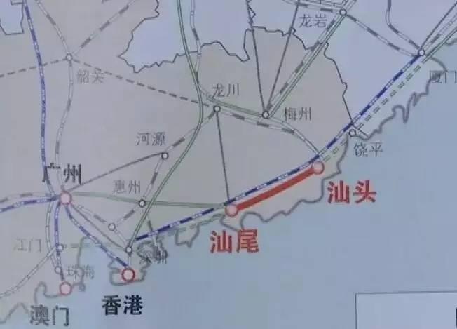汕尾至汕头高铁先行段或年底动工,拟建惠来等5个车站
