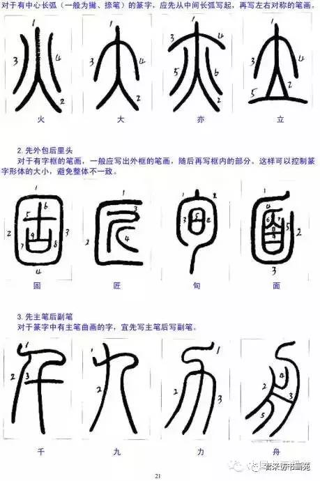 如何写小篆 小篆的笔顺