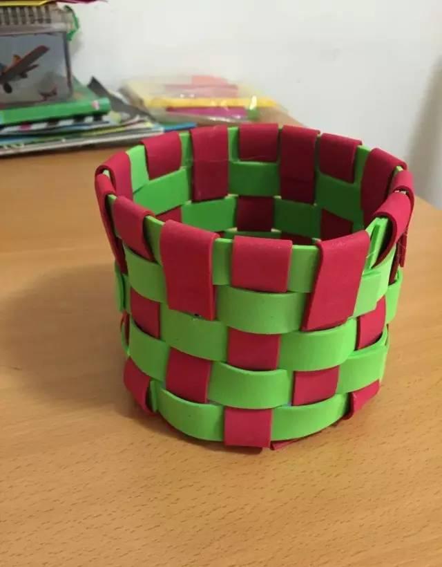 光碟手工制作篮子