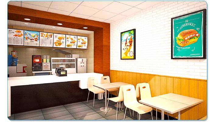 汉堡店加盟品牌:快乐星汉堡4种店型详情