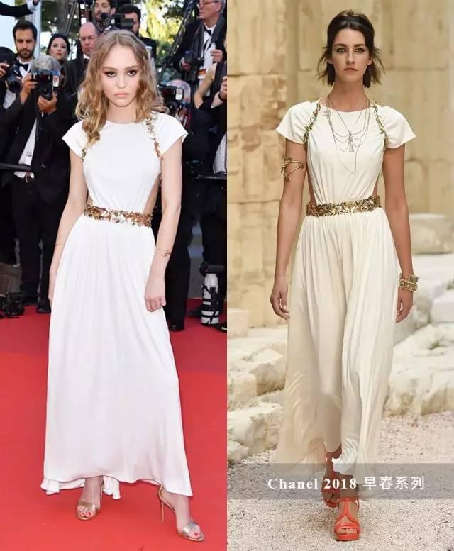 刚结束的戛纳电影节上,lily-rose电影的chanel2018早春裙就是侧面好看的腾讯vip穿着图片