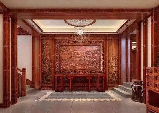 中式红木家装非洲紫檀古典装饰图片