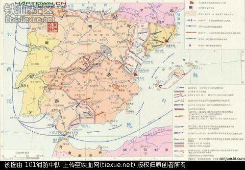 难得一见啊,二战德军作战地图,看看如何