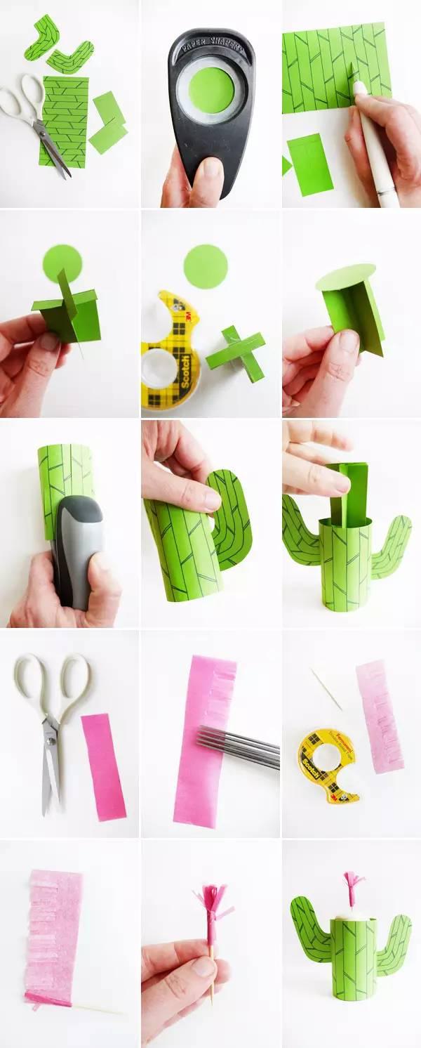 手工制作 | 幼儿园各种仙人掌diy手工制作