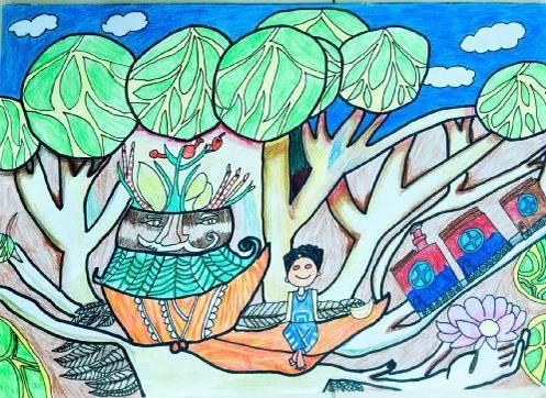 逢沙小学六年级何信凝:   我的森林家园   德胜小学陈亦霏二年级:   一起来种树   顺德一中附小孙艺瑄:   森林幻想