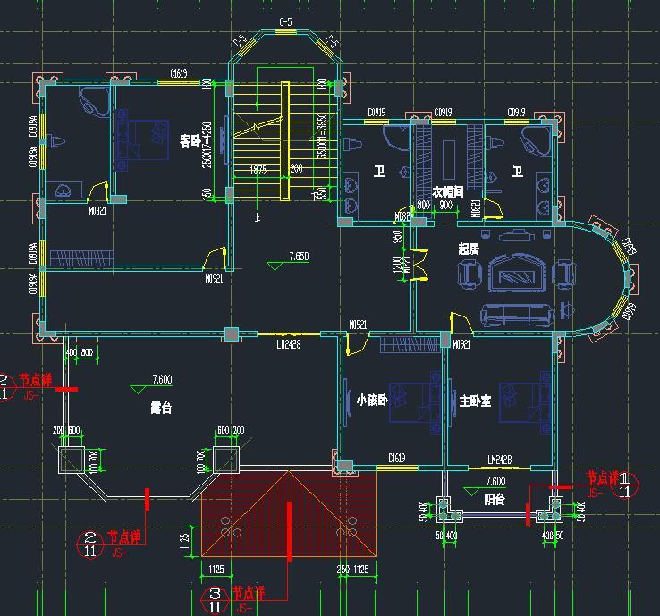 奢华三层城堡式别墅设计三层复式楼豪华别墅设计图图片
