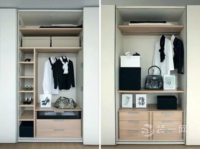1米7衣柜内部设计图图片