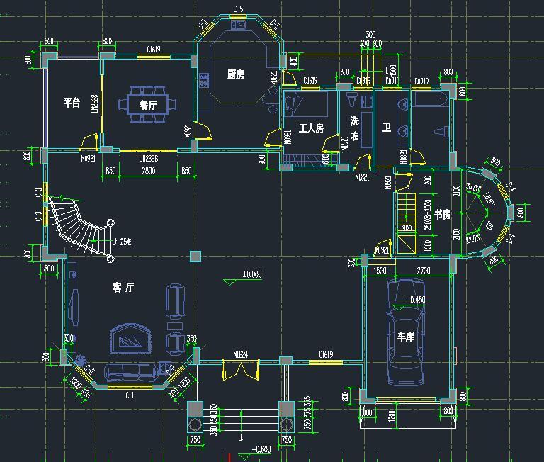占地面积:200平方米 建筑面积:561平方米 结构类型:框架结构复式图片