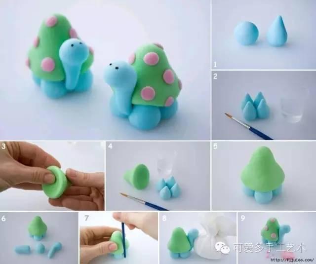 【手工粘土】可爱的粘土小物制作大全,跟你家宝贝一起diy吧!