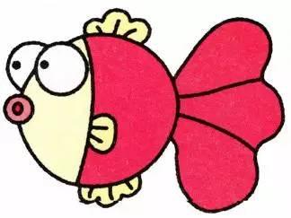 彩色金鱼简笔画