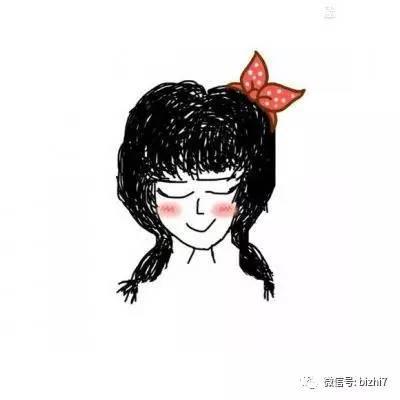 手绘版女生头像