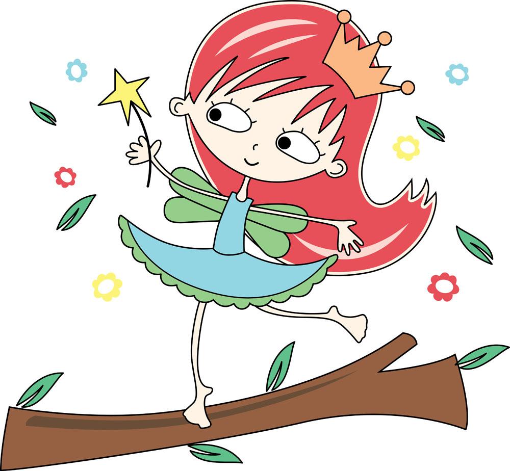 小女孩笑的图片卡通