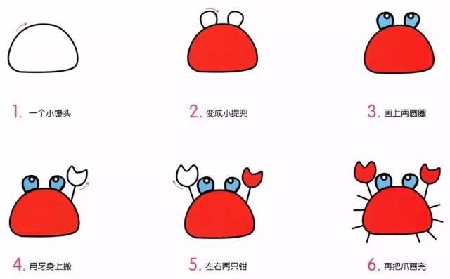 儿童简笔画 贝壳 章鱼 仙人球等,步骤非常详细