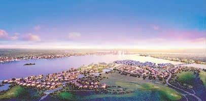 洋沙湖国际旅游度假区鸟瞰(湖南顺天集团提供)