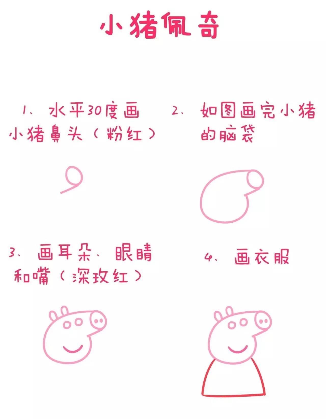 如何画好小猪佩奇一家?