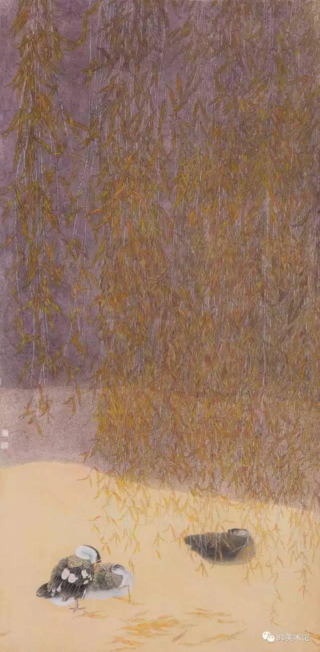 他的作品在1998年就获得第四届中国当代工笔画大展金奖