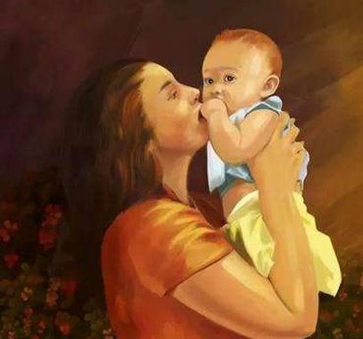 用《游子吟》来歌颂母爱;-妈妈也是第一次当妈妈