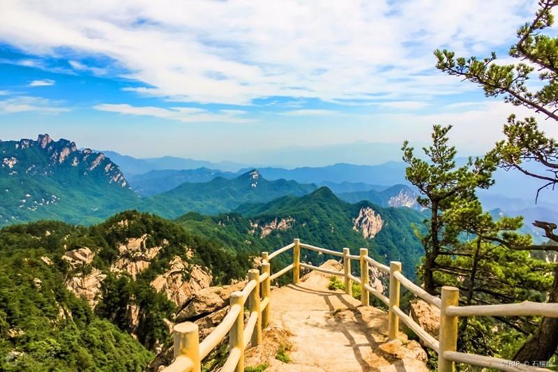 嵩县白云山景区平面图