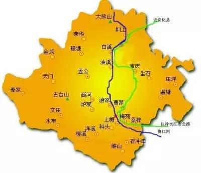 新化县城总体规划图