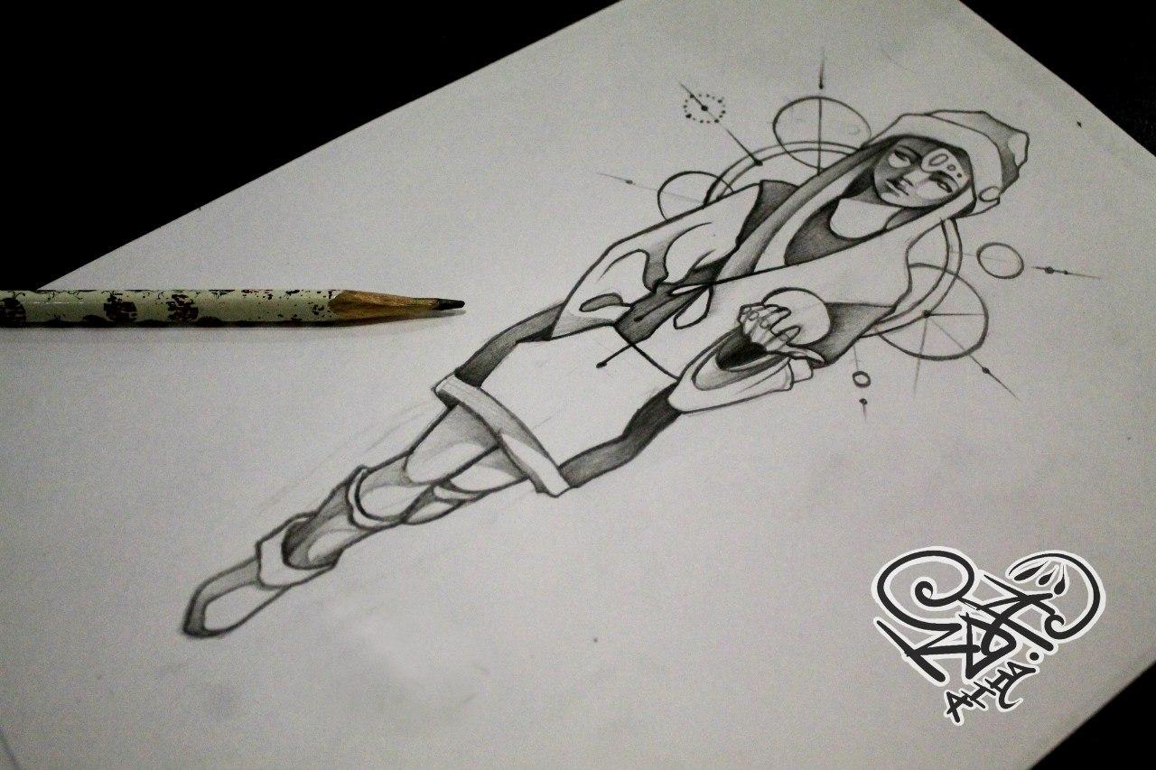欧美写实纹身手稿