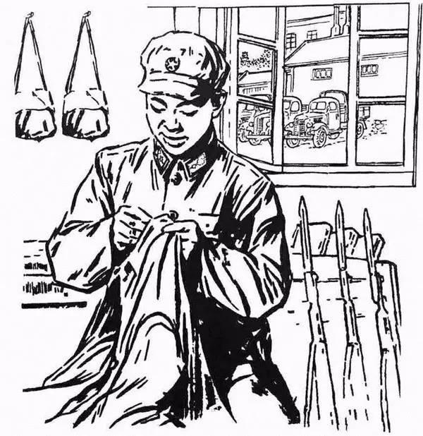 关于学雷锋的画_《雷锋画集》——手绘版画颂雷锋