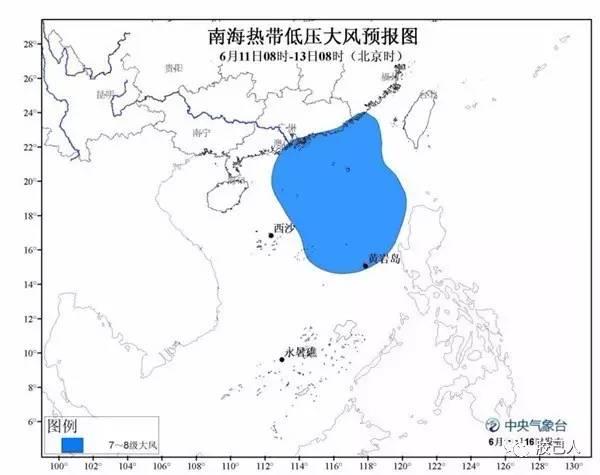 潮州天气预报-南海热带低压生成 潮州或将开启雷 雨模式