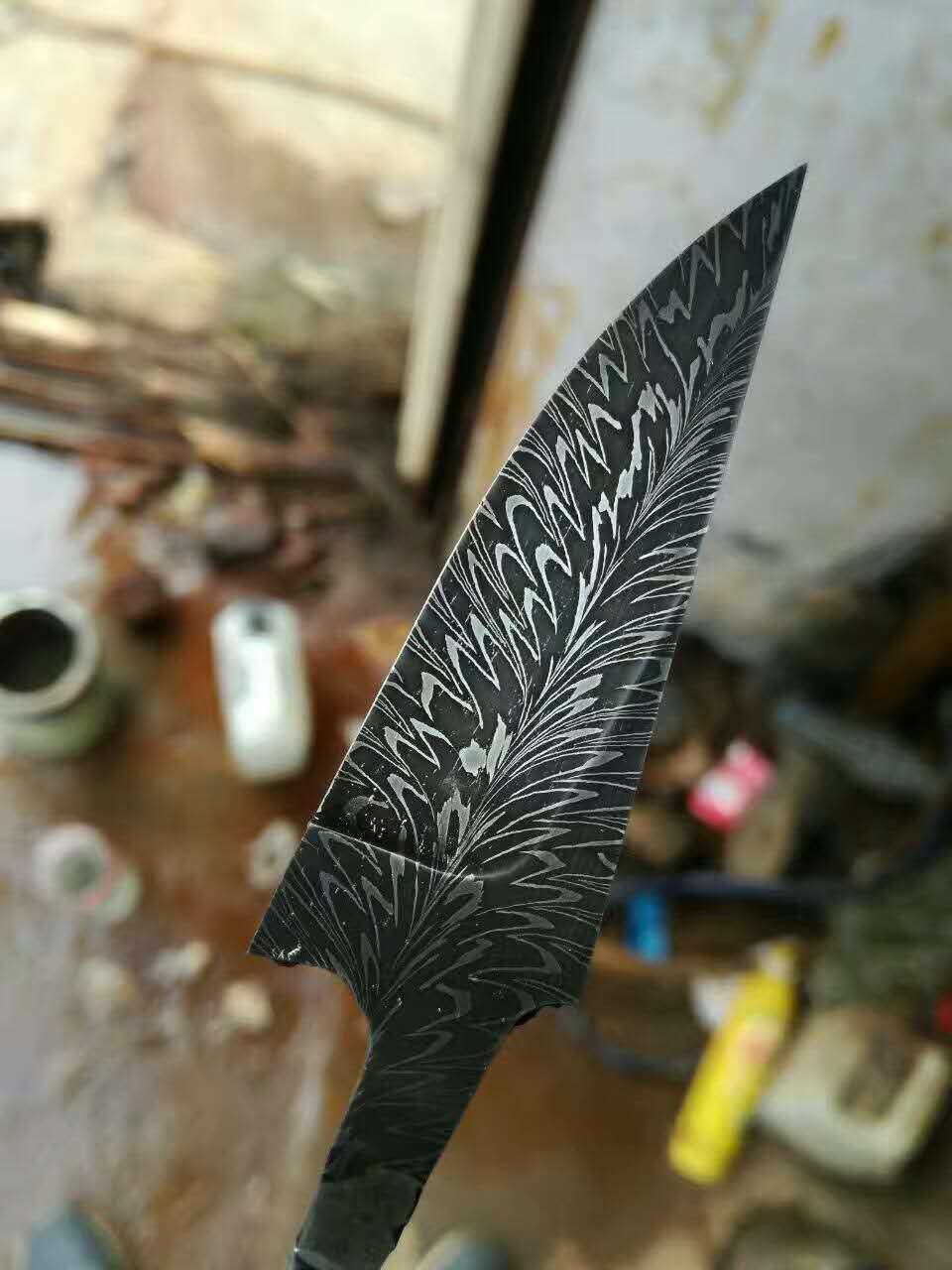 世界顶级钢材羽毛纹大马士革钢的制作