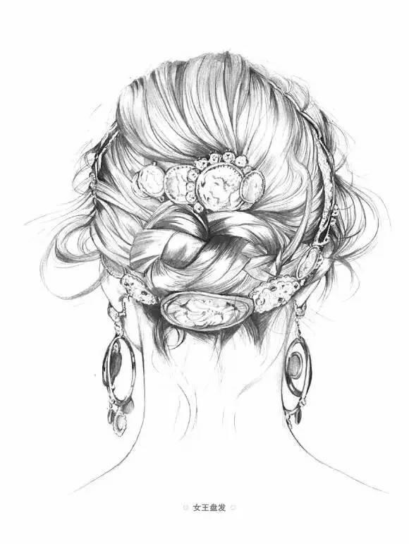 手绘| 如何画出漂亮的头发