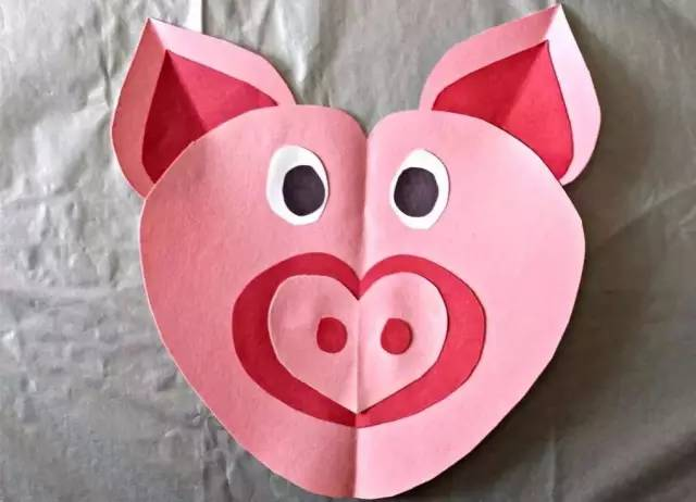 幼儿园创意手工制作快乐的小猪