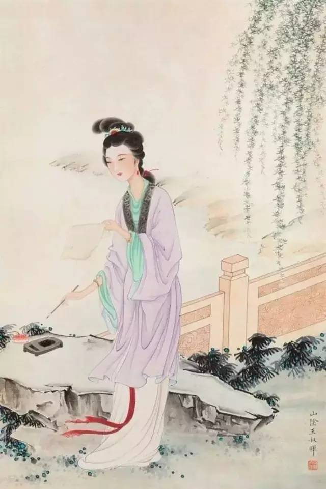 惜春作画-中国工笔仕女第一人