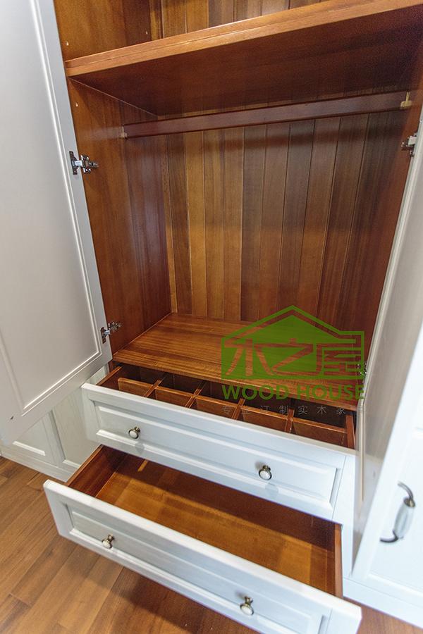 实木衣柜内部结构布局-定制衣柜图片欣赏 漂亮的衣柜