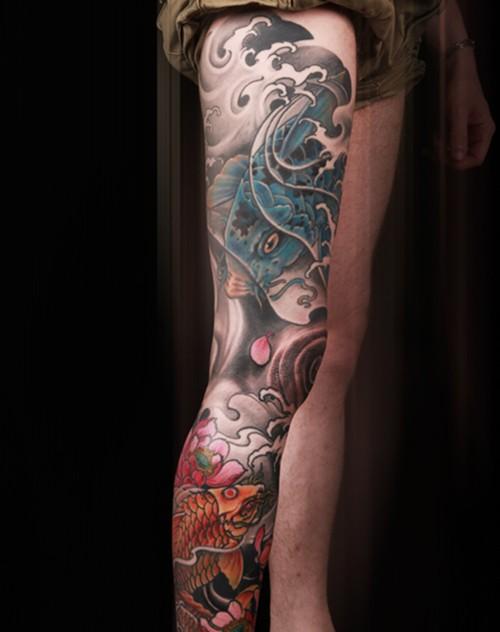 花腿纹身图片 花腿纹身图片大全 社会热点图片 非主流图片站图片