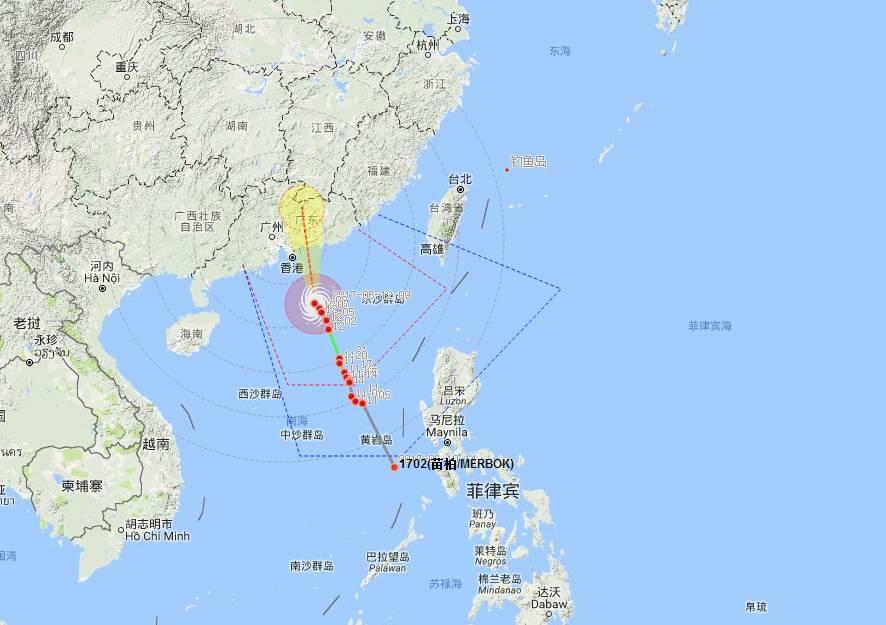 东莞台风蓝色预警 暴雨 雷电 9级大风即将杀到,石龙街坊注意