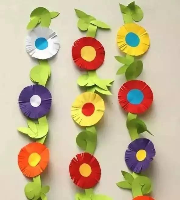 幼儿园亲子手工 一张纸的玩法延伸,美出天际