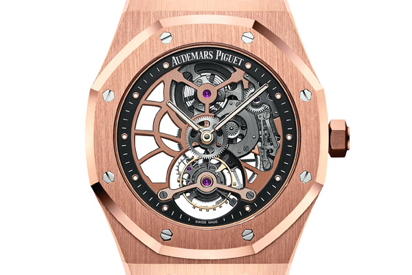 皇家橡树系列超薄镂空陀飞轮腕表