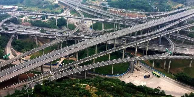 重庆,一座8D迷城 主城最复杂立交,走错一个匝道就是重庆一日游