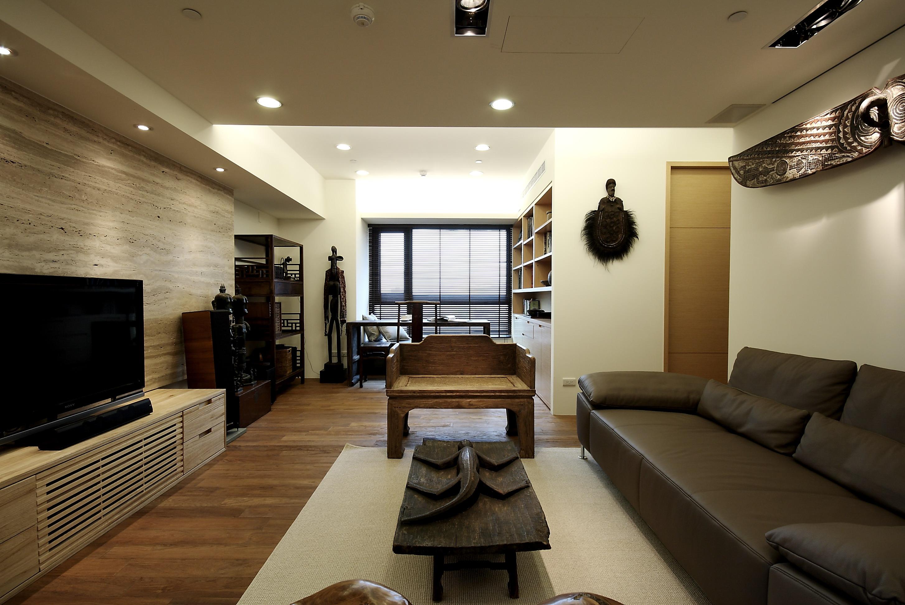 金地格林小城152平新中式客厅装修效果图