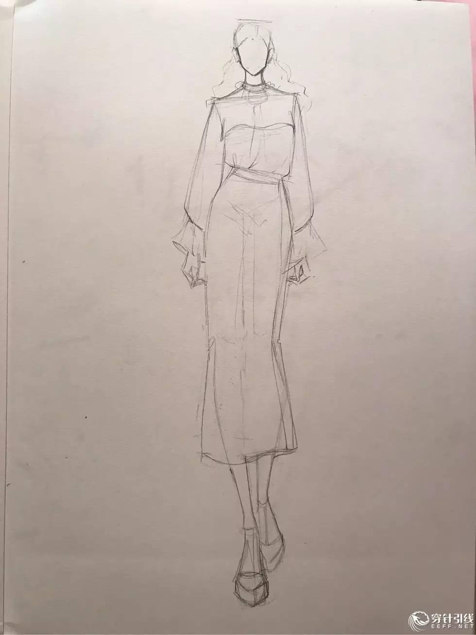 时装手绘 | 服装效果图