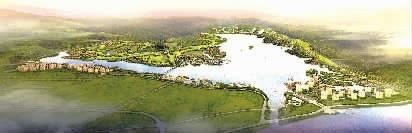 洋沙湖国际旅游度假区鸟瞰(湖南顺天集团供图)