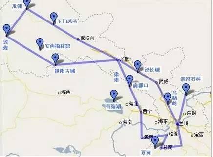 兰州→西宁→环青海湖→门源→民乐→张掖→嘉峪关→敦煌图片