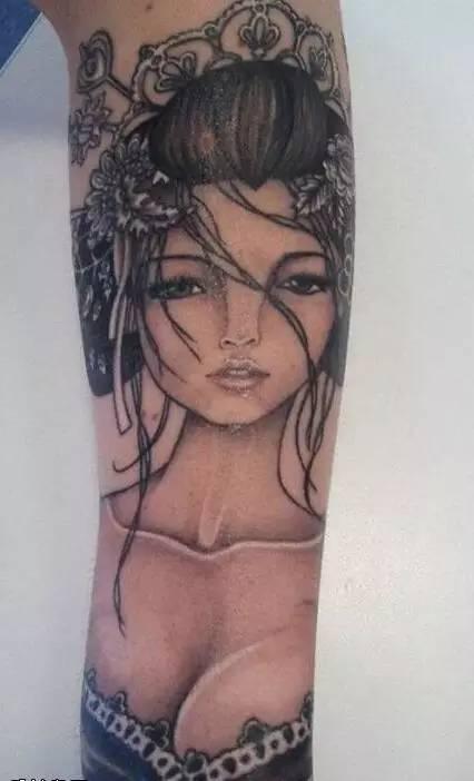 色彩绚丽的艺伎纹身,你想过要纹一个吗?