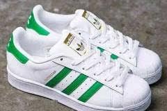 经典贝壳头 adidas 阿迪达斯 superstar 金标绿尾 大童款