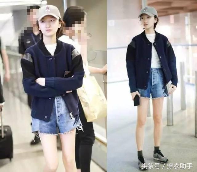 周冬雨素颜嫩出水,杨颖唐嫣机场私服大pk!最后赢的是她 服饰潮流 图2