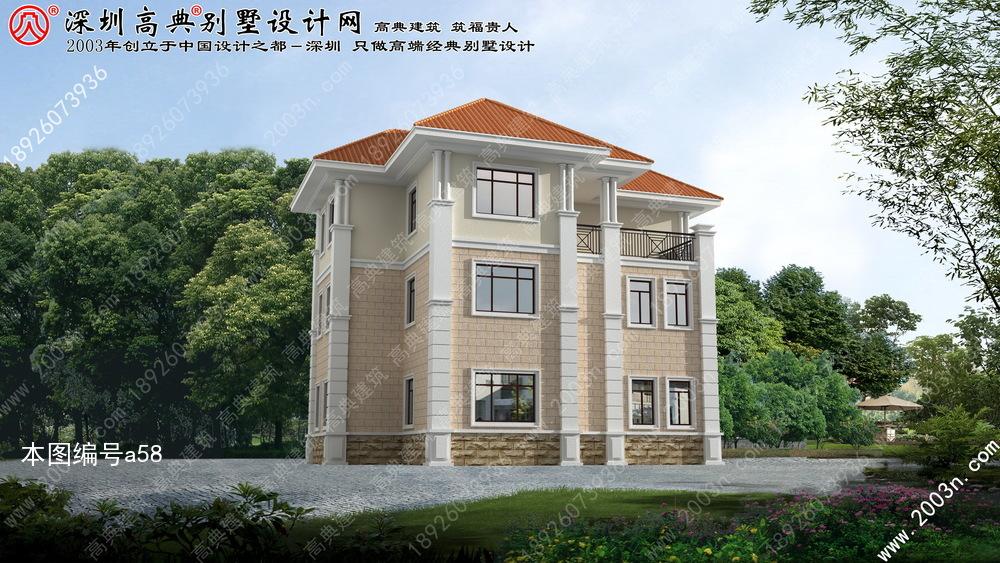 农村别墅三层设计图首层173平方米