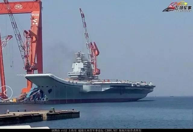 国产001A航母又曝新照 一数据显示中国海军实力飙升全球第二
