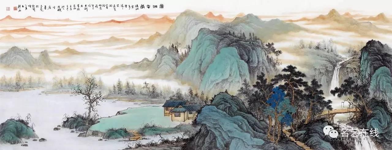 国画基础:写意山水之 设色方法图片