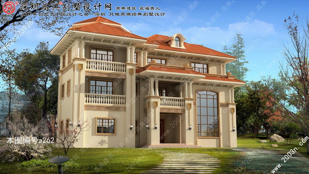 农村三层小别墅设计, 农村三层半别墅设计图, 三层别墅全套设计图纸