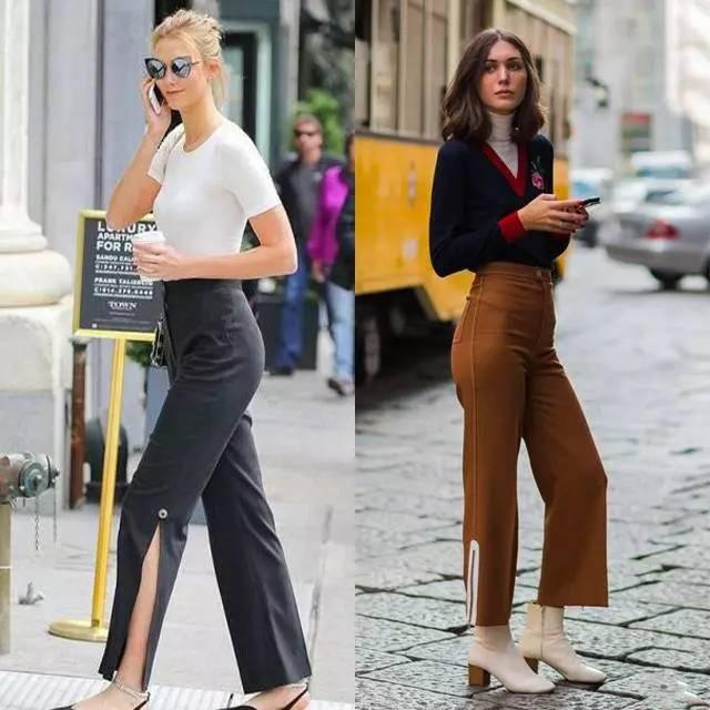 开衩运动裤-显腿长的开衩裤,应该怎么选怎么搭