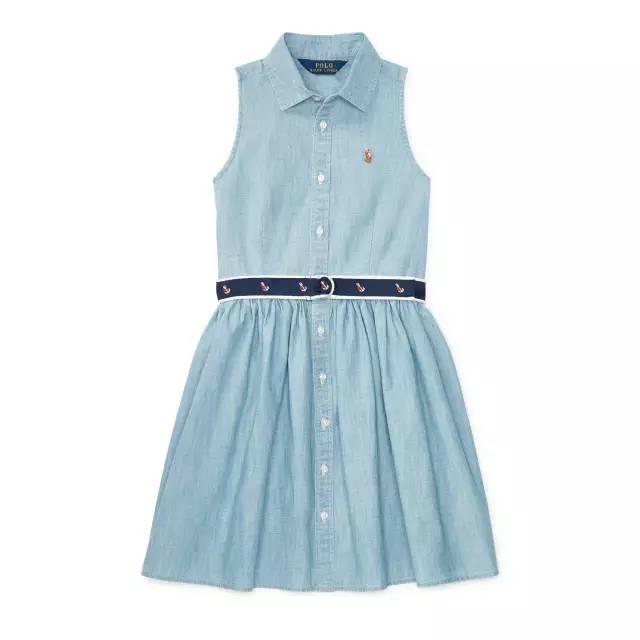 Lauren 2017 童装春夏系列牛仔连衣裙-我爸那么潮,父亲节该送他什