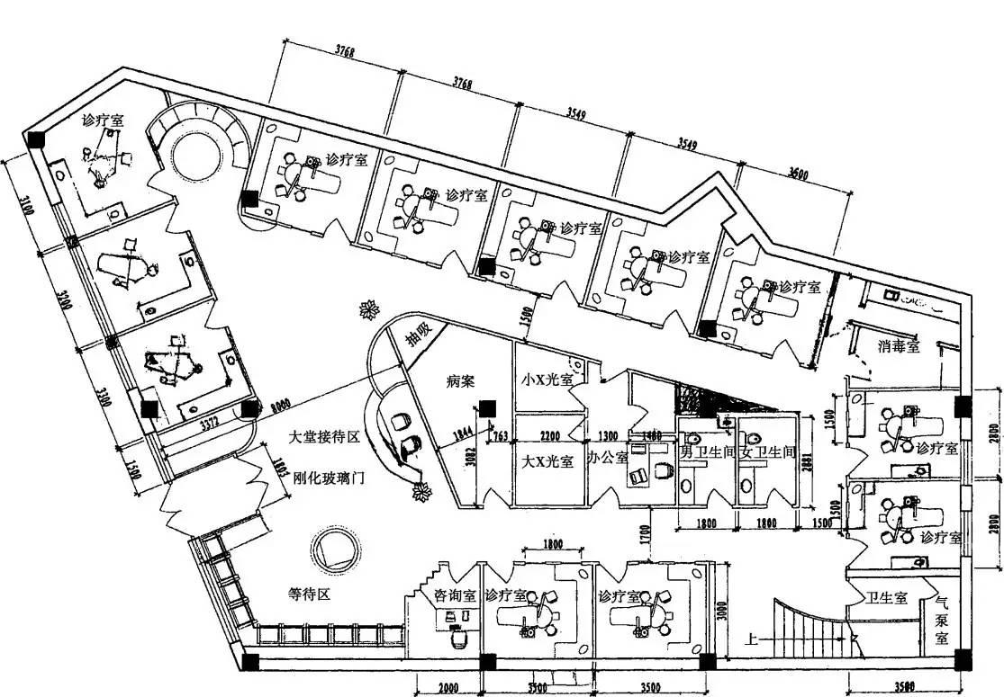 a元素元素图中国爱齿正文门诊部一楼平面设计图口腔诊所设计介绍天津口腔有关平面设计图片